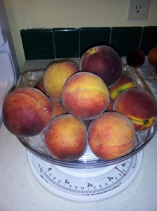 It takes 3.5 pounds of peaches for one batch of jam