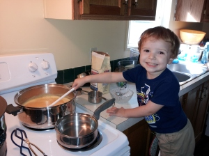 My helper on jam making day