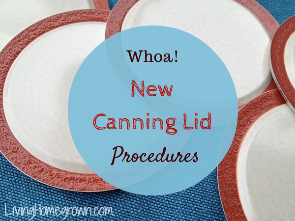 New Changes in Canning Lid Procedures?