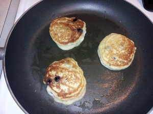 Pancakes made with Powdered Eggs: delicious!
