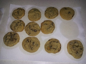 Taste Test:  Chocolate chip cookies made with Powdered Eggs - no difference in flavor or texture.