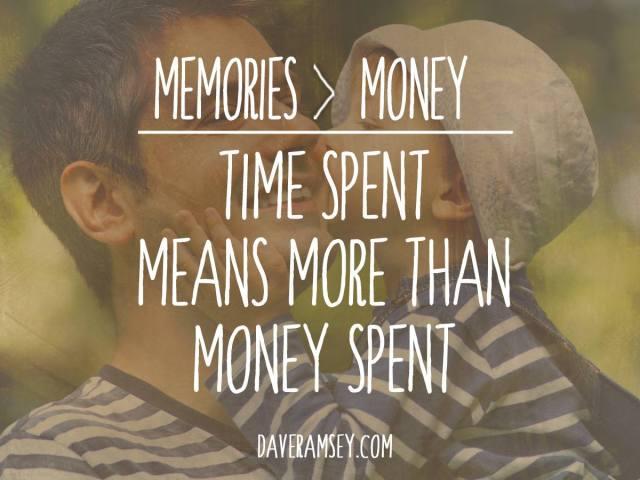 memories vs money