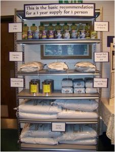 "One-year food supply of ""basic,"" life-sustaining foods"